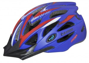 Kask rowerowy AXER LIZARD BLUE/RED daszek XL ULTRA LIGHT
